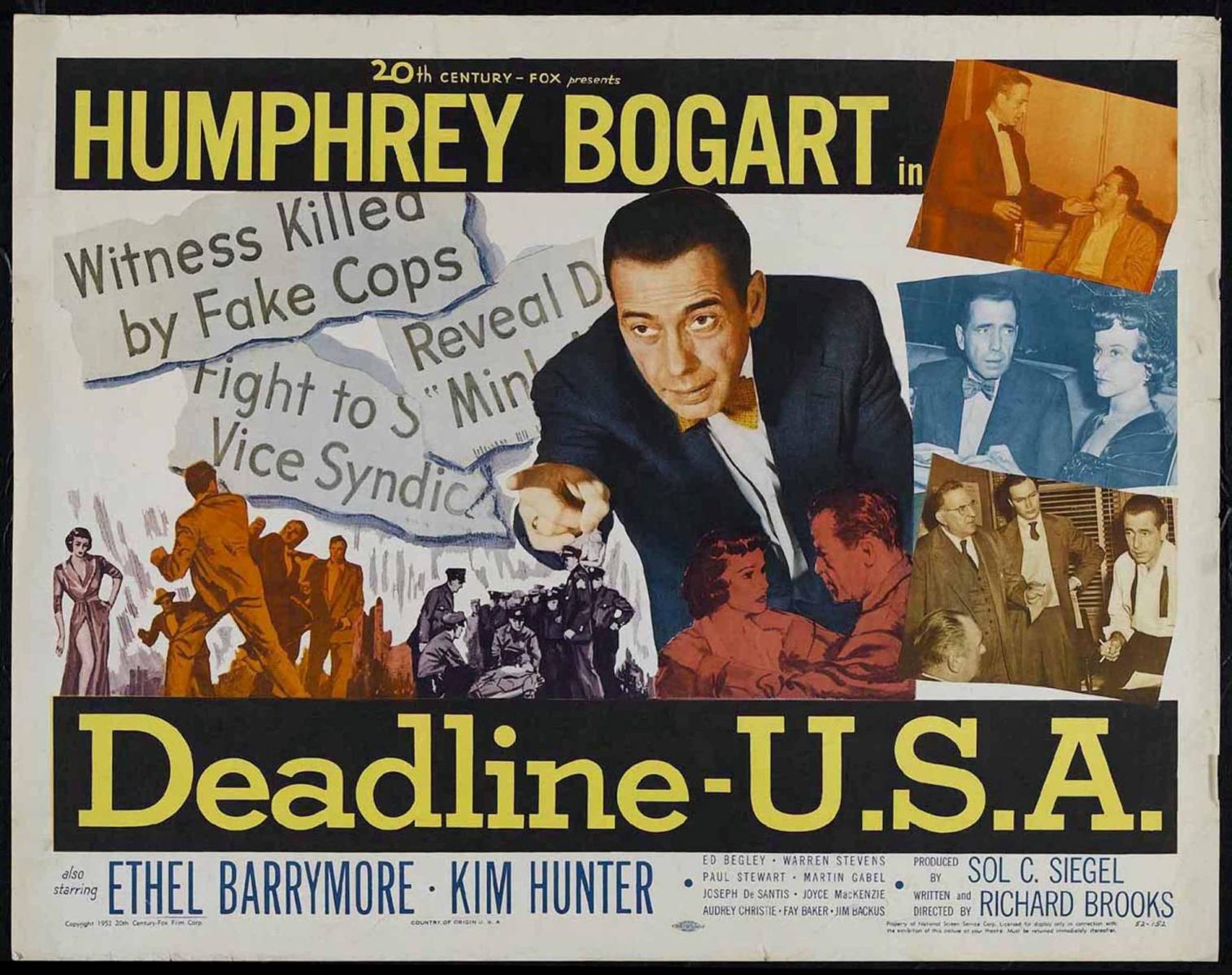 "El cuarto poder"" (""Deadline - USA""), de Richard Brooks (1952 ..."
