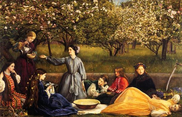 John-Everett-Millais-Apple-Blossoms