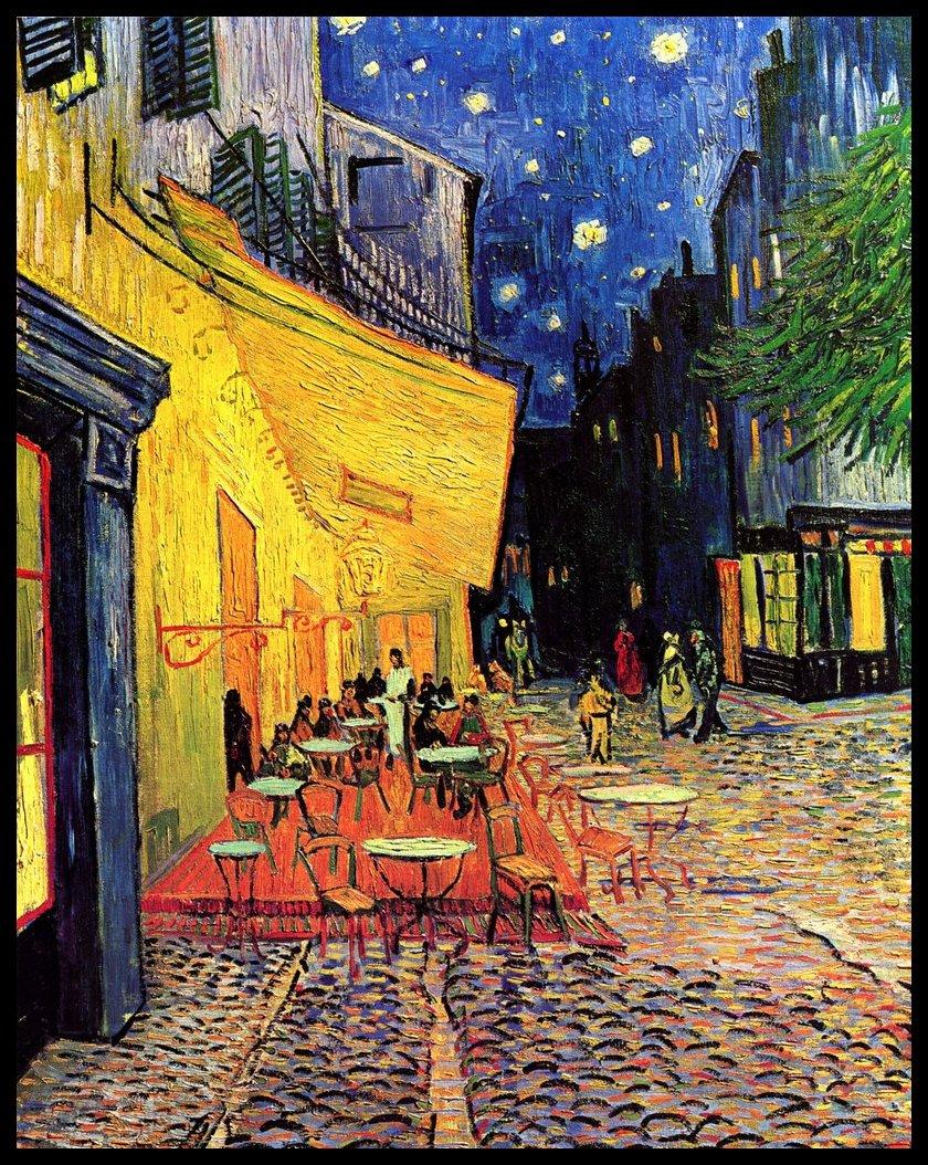 Terraza De Café Por La Noche De Vincent Van Gogh 1888