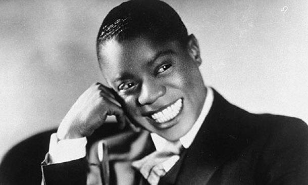 Un jovencísimo Louis Armstrong.