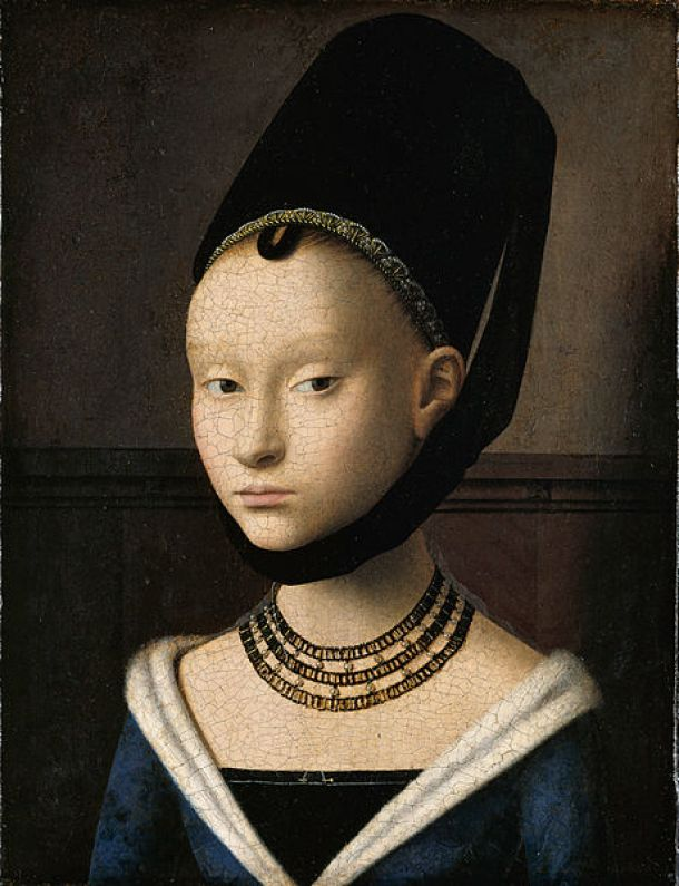 petrus christus _Portrait_of_a_Young_Woman_-