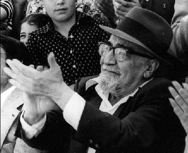 Ramón J. Sender durante una de sus últimas visitas a España.