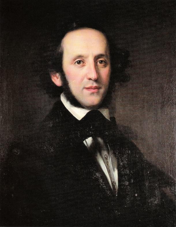 Felix Mendelssohn según Eduard Magnus (1846).