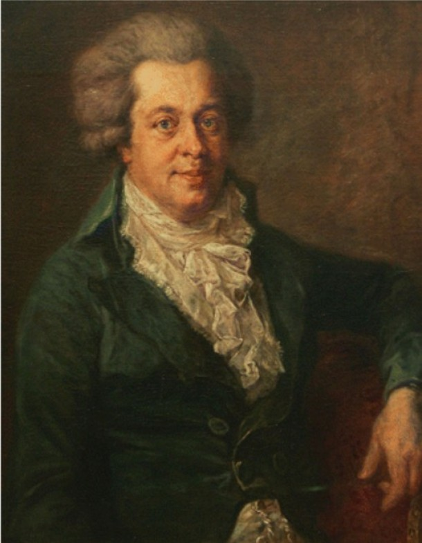 réquiem Mozart según Johann Georg Edlinger, 1790.
