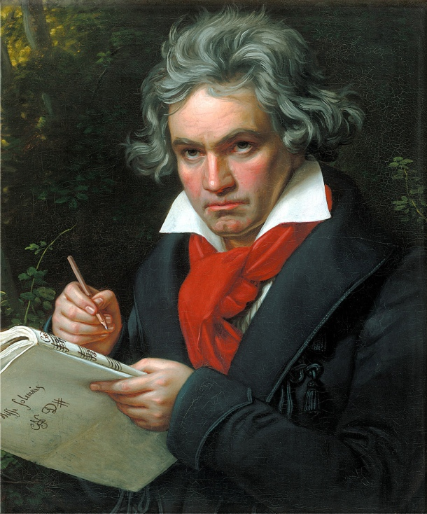 Beethoven según Joseph Karl Stieler, 1820.